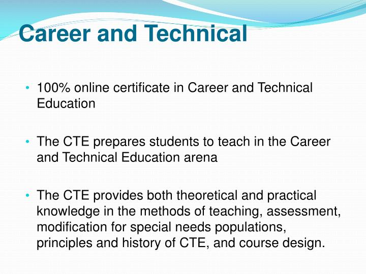 Career and Technical