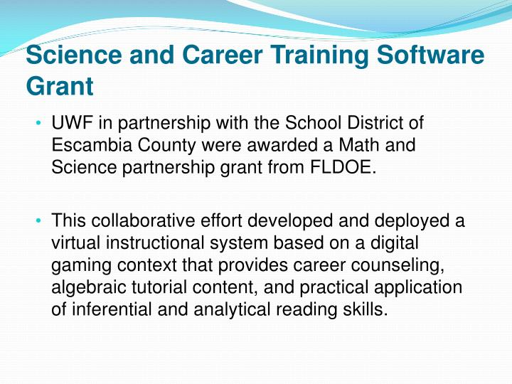 Science and Career Training Software