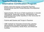 teacherready and alternative certification program
