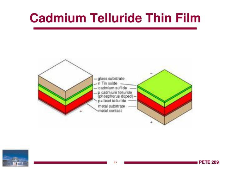 Cadmium Telluride Thin Film