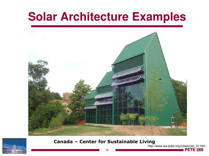 Solar Architecture Examples