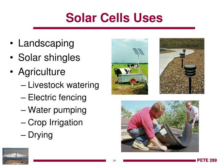Solar Cells Uses