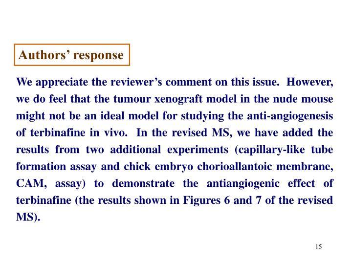 Authors' response