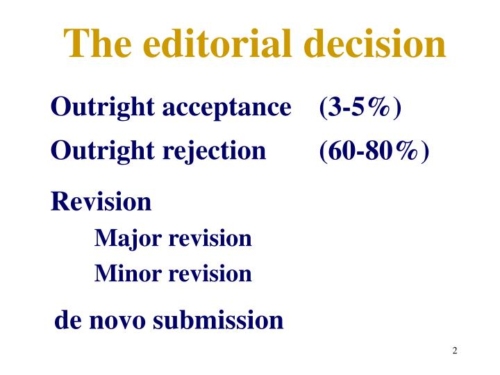 The editorial decision