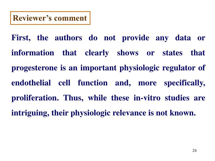 Reviewer's comment