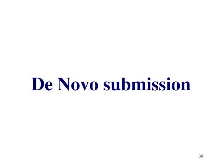 De Novo submission