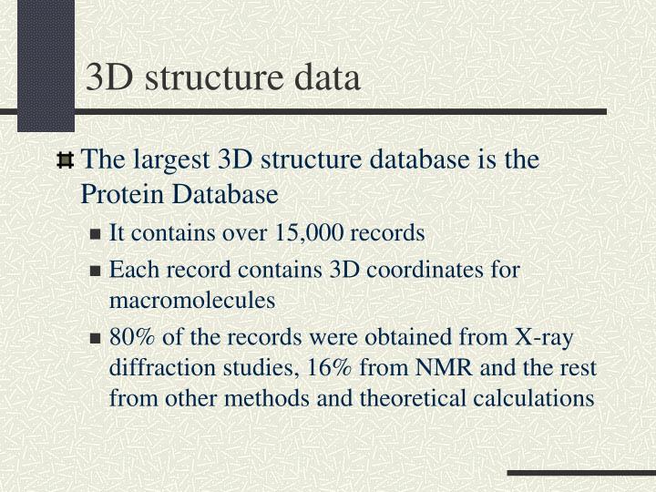 3D structure data
