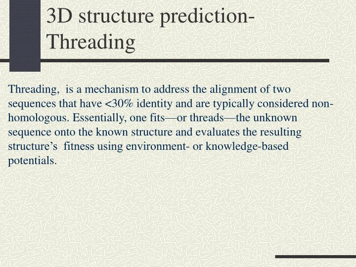 3D structure prediction-Threading
