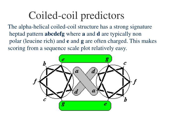 Coiled-coil predictors