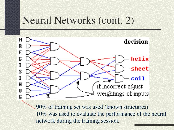 Neural Networks (cont. 2)