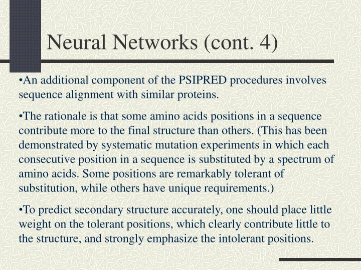 Neural Networks (cont. 4)