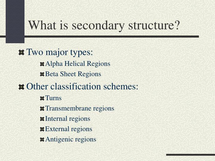 What is secondary structure?