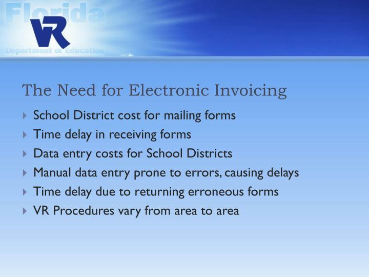 The Need for Electronic Invoicing