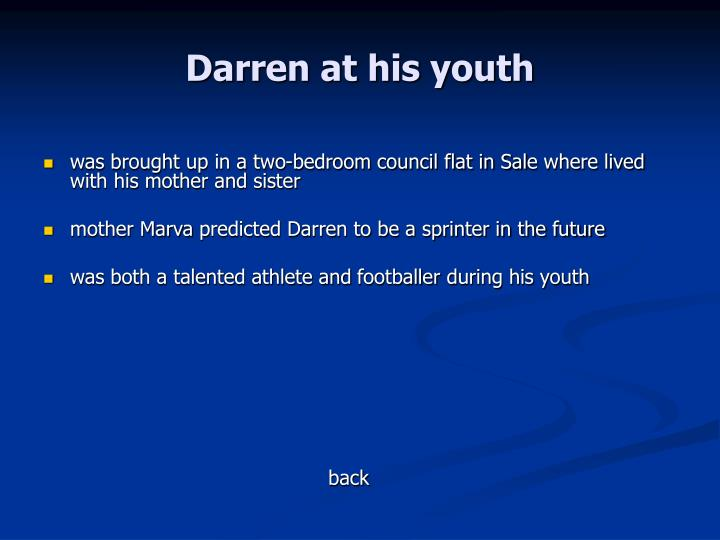 Darren at his youth