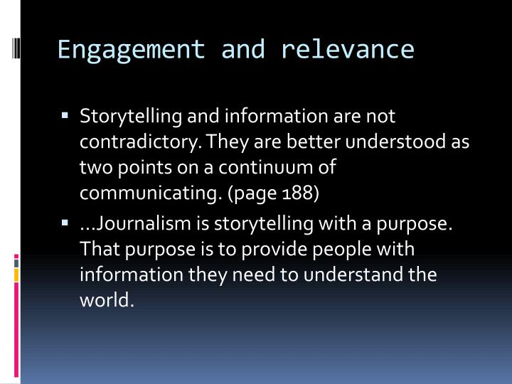 Engagement and relevance