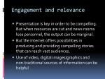 engagement and relevance9