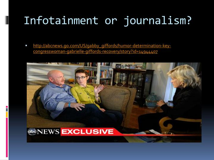 Infotainment or journalism?