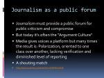journalism as a public forum1