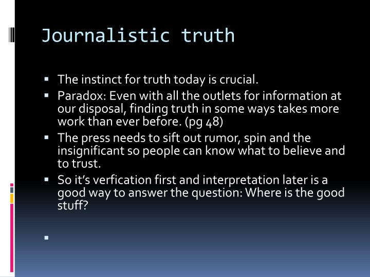 Journalistic truth