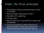 truth the first principle