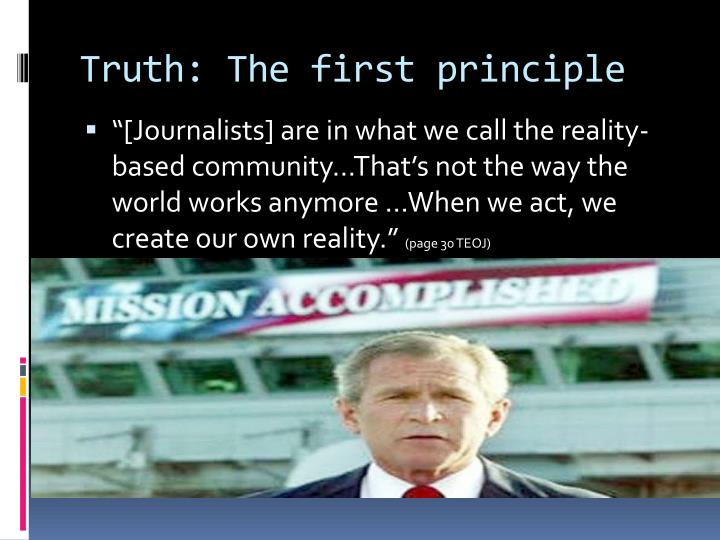 Truth: The first principle