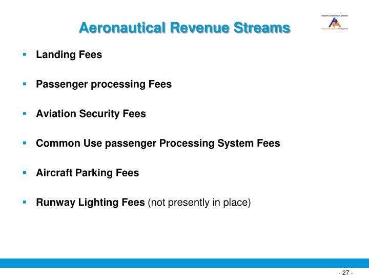 Aeronautical Revenue Streams