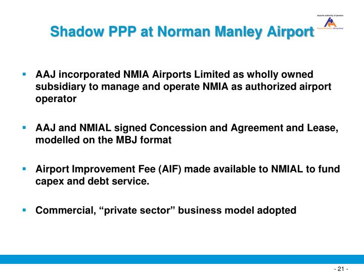 Shadow PPP at Norman Manley