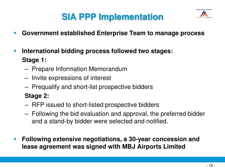 SIA PPP Implementation