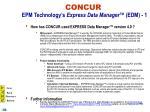 concur epm technology s express data manager edm 1