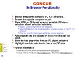 concur ifc browser functionality