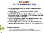 concur ifc derived attributes why