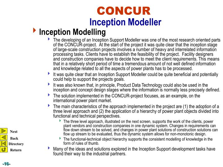Inception Modelling