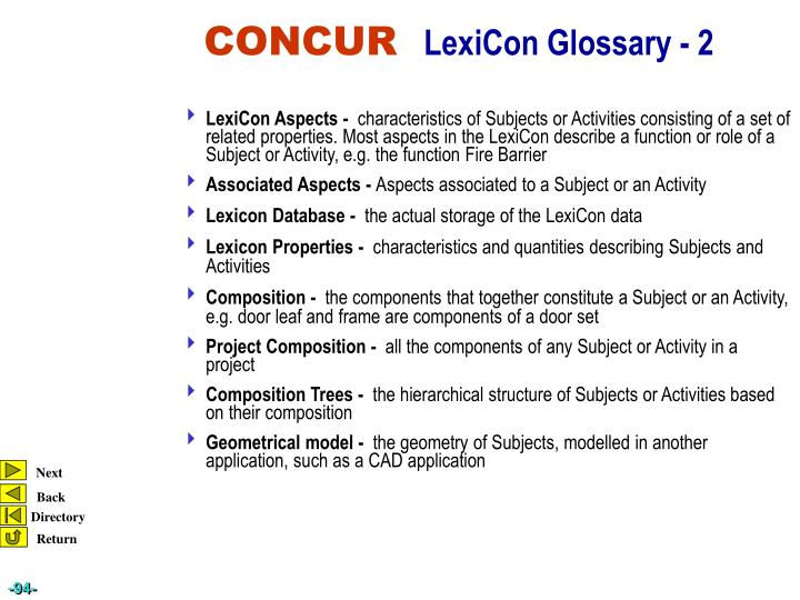 LexiCon Aspects -