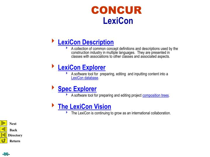 LexiCon Description