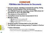 concur pdm meta data structures for documents