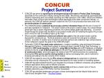concur project summary