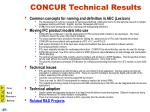 concur technical results