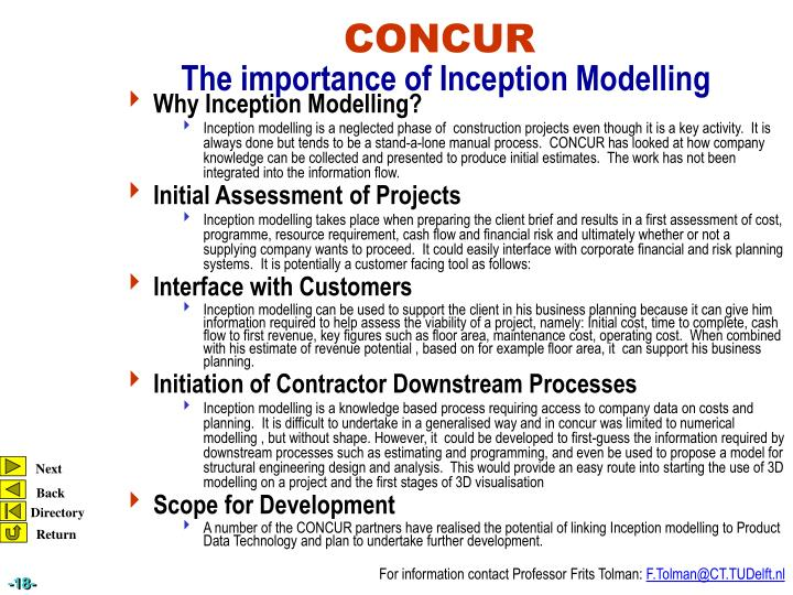 Why Inception Modelling?
