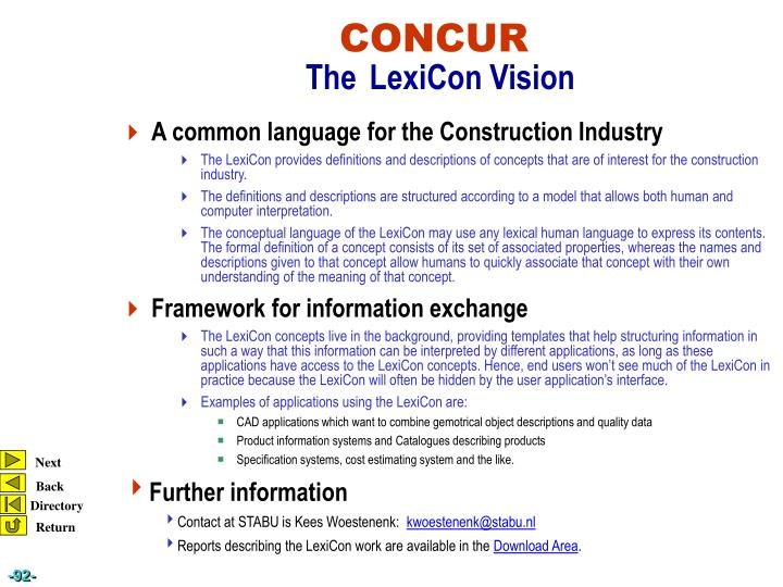 A common language for the Construction Industry