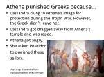 athena punished greeks because