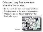 odysseus very first adventure after the trojan war
