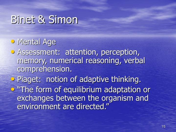 Binet & Simon