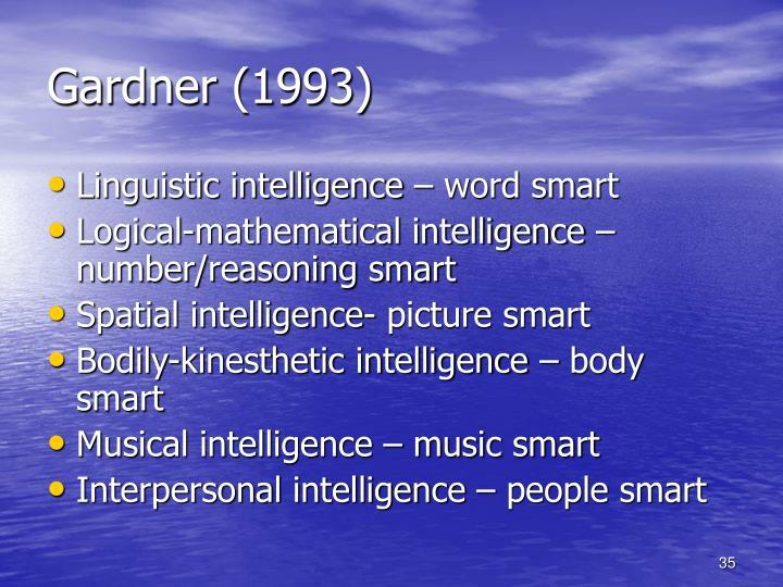 Gardner (1993)