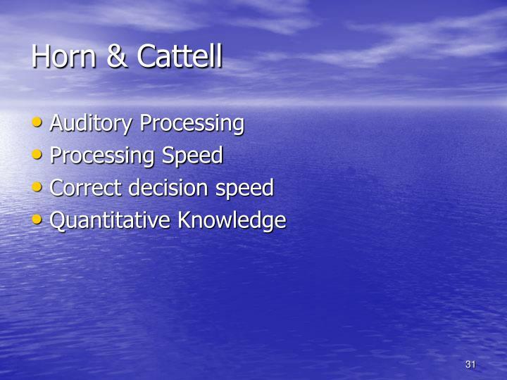 Horn & Cattell