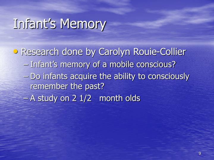 Infant's Memory