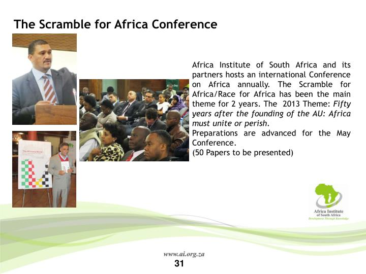 The Scramble for Africa Conference