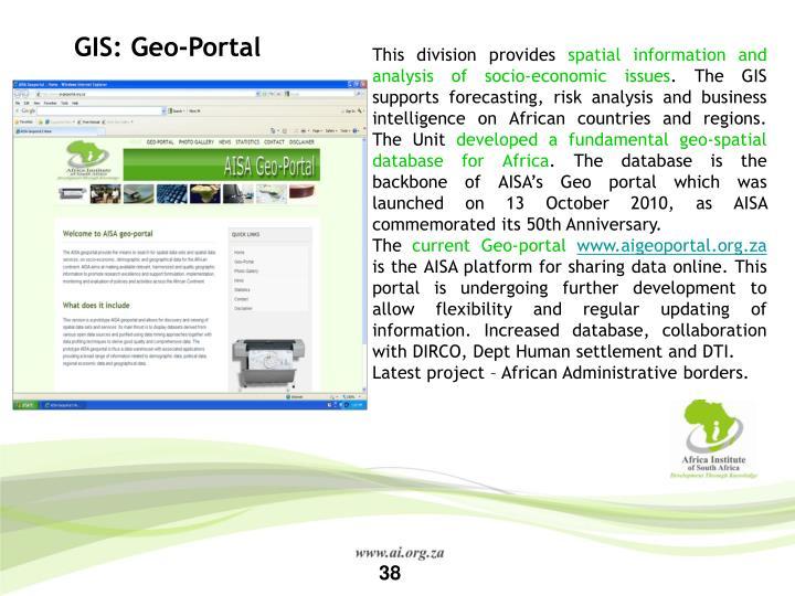 GIS: Geo-Portal