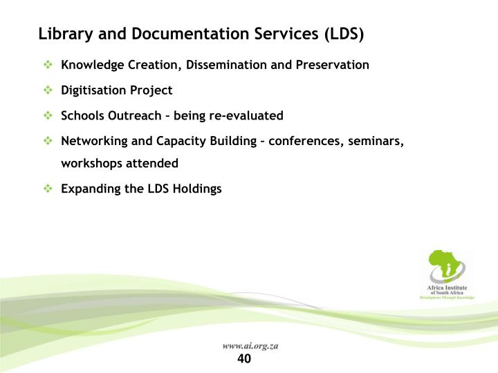 Library and Documentation Services (LDS)