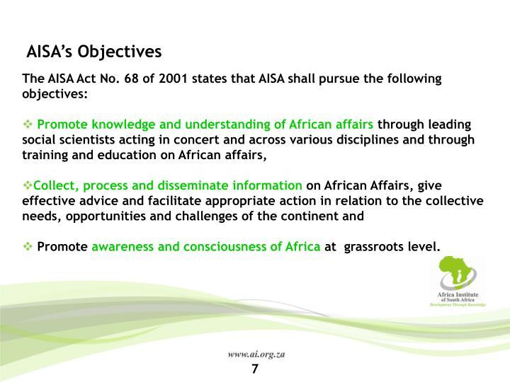 AISA's Objectives