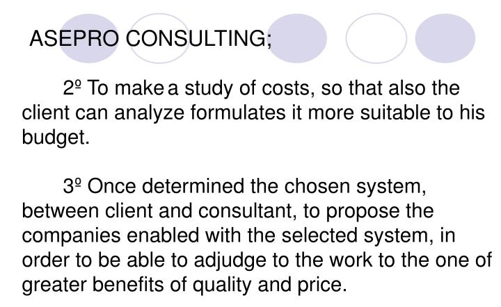 ASEPRO CONSULTING;